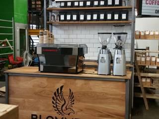 Beursstand Blommer coffee roasters:  Evenementenlocaties door Samosa 'Ontwerp op Maat', Industrieel