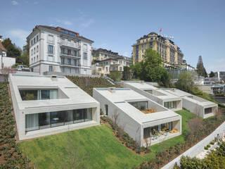 Stadtvillen Adligenswilerstrasse Luzern:  Terrasse von alp - architektur lischer partner ag