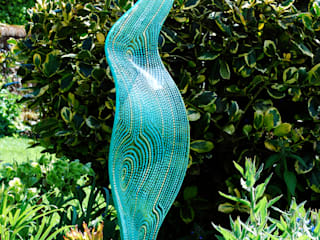 Stream: modern Garden by Lisa Pettibone Glass Artist