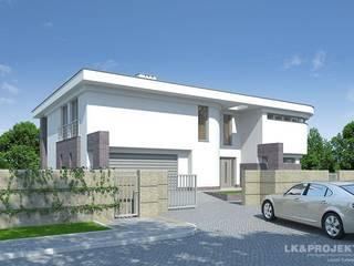 LK&803: styl , w kategorii Domy zaprojektowany przez LK & Projekt Sp. z o.o.,
