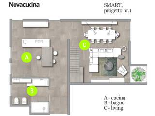 SMART progetto 1 di Nova Cucina Scandinavo