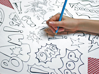 Colour In Wall Stickers by Funwall
