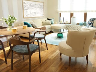 Ruang Keluarga Gaya Eklektik Oleh SAFRANOW Eklektik