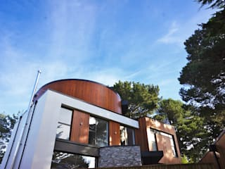 Banks Road, Sandbanks, Poole David James Architects & Partners Ltd Nowoczesne domy
