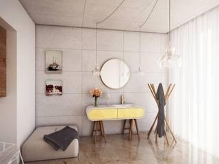 Nowoczesna łazienka urządzona z Luxum Nowoczesna łazienka od Luxum Nowoczesny
