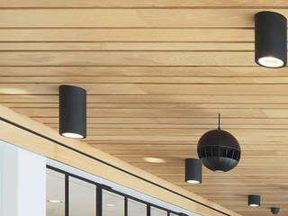 Houten plafonds voor een warme uitstraling Moderne kantoorgebouwen van Intermontage Leurink B.V. Modern
