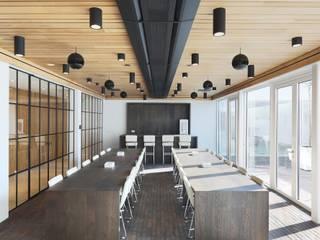 Houten plafonds voor een warme uitstraling Moderne kantoor- & winkelruimten van Intermontage Leurink B.V. Modern