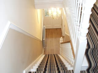 Striped Stair Carpet Runner Style Within Classic style corridor, hallway and stairs