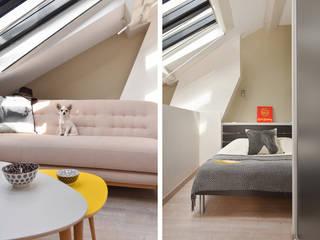 Rénovation d'un studio à Lyon 06 Marion Lanoë Salon moderne