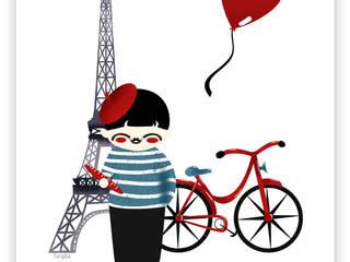 """Affiche Décorative """"Bonjour Paris"""" Kanzilue ArtPhotos et illustrations"""