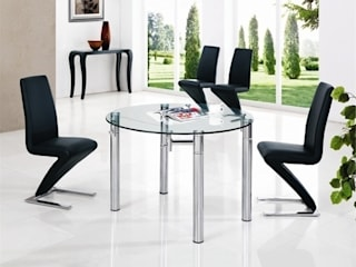 JAVA ROUND EXT. GLASS TABLE : modern  by Furniture Italia, Modern