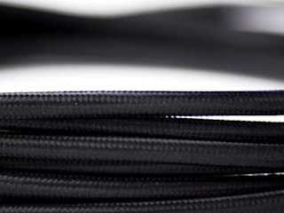 Fabric lighting cable - Black:   by William and Watson