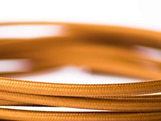 Fabric lighting cable - Bronze:   by William and Watson