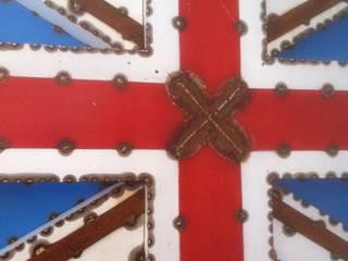 Decor mural métal Union Jack par FER et REFER Industriel