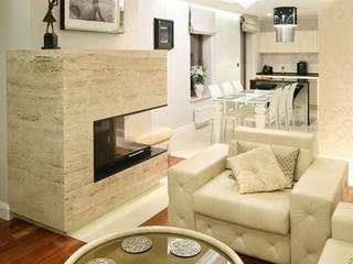 Salas / recibidores de estilo  por CAROLINE'S DESIGN