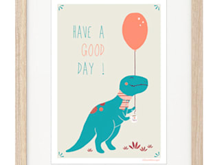 Affiche tyrannosaure Liliaimelenougat:  de style  par LiliAimeLeNougat