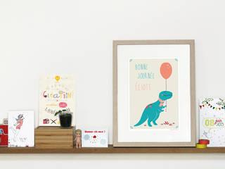 Affiche dinosaure personnalisable Liliaimelenougat:  de style  par LiliAimeLeNougat