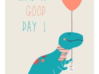 Affiche dinosaure Liliaimelenougat:  de style  par LiliAimeLeNougat