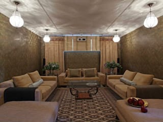 Tatiana Ivanova Design Eclectic style media room