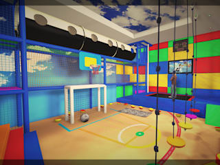 Winter Activities Room - St Petersburg, Russia Stanza dei bambini moderna di Mark Healy Fitness Management Moderno