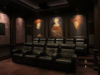 Cinema: styl , w kategorii Pokój multimedialny zaprojektowany przez SAFRANOW