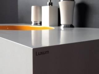 Owalna umywalka od Luxum Nowoczesna łazienka od Luxum Nowoczesny