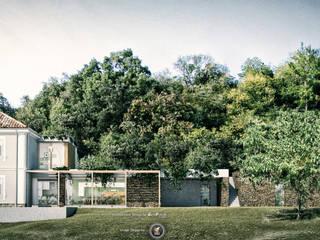 Restauro e ampliamento_Vista giardino: Case in stile  di PUNTIX STUDIO