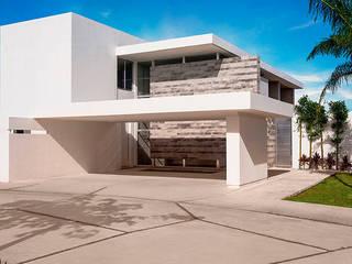 Privada El Secreto: Casas de estilo  por Ancona + Ancona Arquitectos