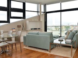 Docklands Apartment Modern Living Room by Cathy Phillips & Co Modern