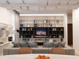 Projekt wnętrz mieszkania I Nowoczesny salon od Projektowanie Wnętrz Krzysztof Ziółkowski Nowoczesny