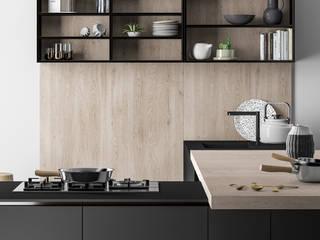 Ambiente Cucina (A) - elementi a giorno: Cucina in stile in stile Moderno di Nova Cucina