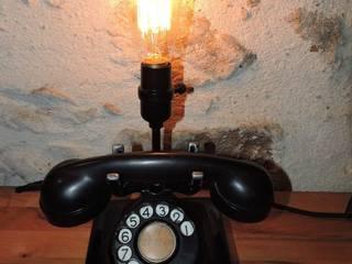 Lampe téléphone rétro des années 40 d'origine par marceline Industriel
