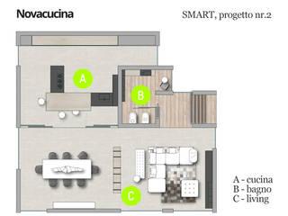 SMART progetto 2 di Nova Cucina Moderno
