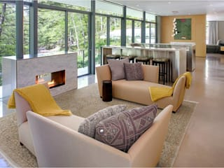 Weston Residence Modern living room by Specht Architects Modern
