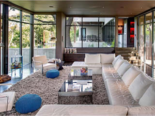 West Lake Hills Residence Specht Architects Modern living room
