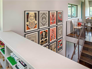 West Lake Hills Residence 現代風玄關、走廊與階梯 根據 Specht Architects 現代風