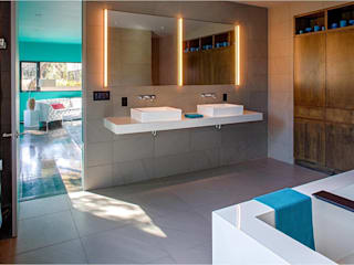 West Lake Hills Residence Specht Architects Bagno moderno
