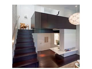 Manhattan Micro-Loft Specht Architects Modern Corridor, Hallway and Staircase