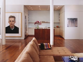 Meltzer Ames Loft Modern living room by Specht Architects Modern