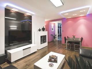 Apartament na Ursynowie: styl , w kategorii Salon zaprojektowany przez Ładne Wnętrze