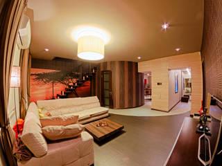 Квартира в этно стиле: Гостиная в . Автор – Атмосфера