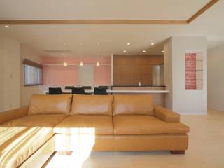 上目黒の家リノベーション モダンデザインの リビング の 伊藤一郎建築設計事務所 モダン