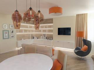 Living room by Дизайн-студия 'Эскиз', Scandinavian
