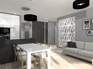 Salas / recibidores de estilo  por ArtDecoprojekt ,