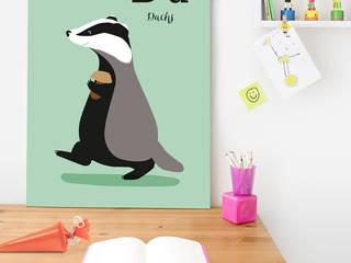 Wandgestaltung im Kinderzimmer: modern  von Posterlounge,Modern