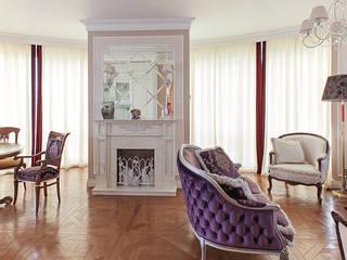 Дизайн 4-комнатной квартиры в ЖК «Дом на Давыдковской» Гостиная в классическом стиле от Дизайн студия Ольги Кондратовой Классический