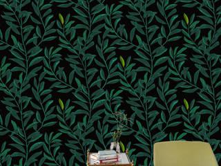 Tapete - Blätterranke: klassische Schlafzimmer von kollektiv vier - Surface and Textile Design