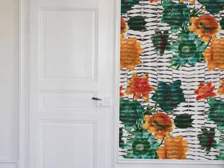 Tapete - gatsby: ausgefallene Wohnzimmer von kollektiv vier - Surface and Textile Design
