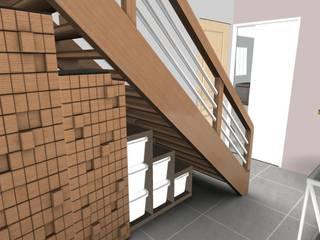 Entrée: Couloir et hall d'entrée de style  par L'Oeil DeCo