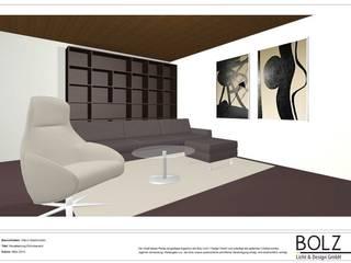 Visualisierung Villa in Saarbrücken, Wohnbereich:   von Bolz Licht & Wohnen